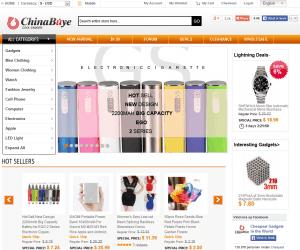 Screenshot van de website van ChinaBuye