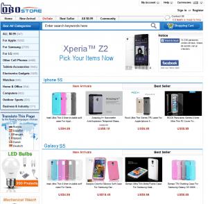 screenshot van de website van obostore