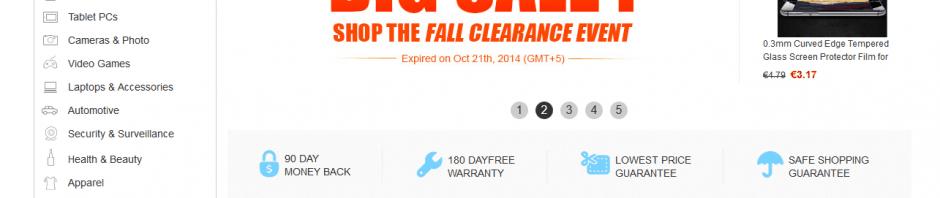 screenshot van de website van tmart