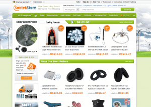 screenshot website suntekstore
