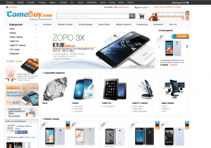 screenshot van de website van comebuy