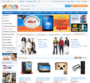 screenshot van de website van TinyDeal